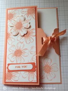 Stampin up Flower shop and scallop tag topper punch Fun Fold Cards, Folded Cards, Cool Cards, Joy Fold Card, Stampin Up, Birthday Cards For Women, Stamping Up Cards, Card Tutorials, Pretty Cards