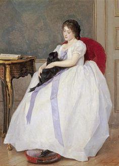 The Confidante, by Gustave Léonard de Jonghe (Belgian, 1829-1893)