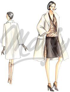 Model 2878 | Sewing Pattern Coats / Overcoats / Jackets