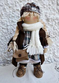 Muñeca de Tela para Colección. Muñeca de trapo por handANAhada