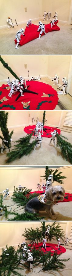 Need help decorating for the holidays? Star Wars stormtroopers are here to help!