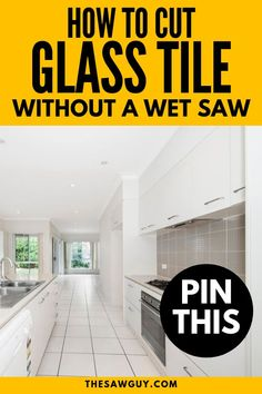 Not everyone can afford a professional tools to tackle their tile projects. So here is a guide on how to cut glass tile without a wet saw for your next DIY. Kitchen Tiles Backsplash, Glass Kitchen, Interior Design Living Room, Diy Backsplash, Glass Tile, Living Room Designs, Diy Glass, Entryway Decor, Kitchen Backsplash Trends