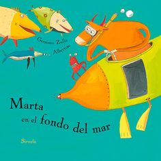 Portada del álbum ilustrado de Albertine Marta en el fondo del mar Hans Christian, Lunch Box, Google, Del Mar, Animation Movies, Art Illustrations, Backgrounds, Bento Box