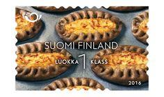 COLLECTORZPEDIA Karelian Pasty Stamp Collecting, Postage Stamps, Finland, Food, Essen, Meals, Stamps, Yemek, Eten