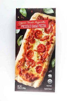 Trader Joe's Organic Tomato Mozzarella Piccolo Pizza review is posted #traderjoes Joe's Pizza, New Pizza, Trader Joes Food, Trader Joe's, New York Pizza, Tomato Mozzarella, Frozen Pizza, Quick Meals