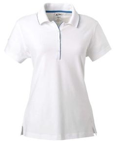 adidas Golf A89 Women's ClimaLite Tour Jersey Short-Sleeve Polo M WHITE/GULF adidas. $34.49