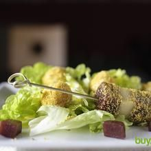 Ensalada de mozzarella y guayaba