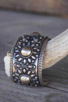 Brushed sterling silver cuff bracelet from Gunslinger