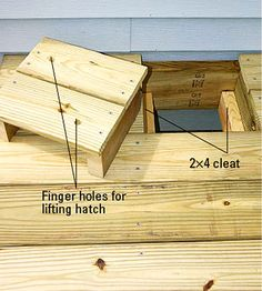 If youre not using the space under your deck you are seriously missing out. Get organized outdoors with our deck storage solutions. - Deck Storage - Ideas of Deck Storage Deck Building Plans, Deck Plans, Cool Deck, Diy Deck, Backyard Decks, Outdoor Patios, Outdoor Rooms, Pergola, Laying Decking