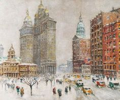 It's About Time: New York City in the Snow by Guy Carleton Wiggins 1883-1962
