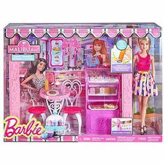 Shop for Barbie dolls and toys and find fab fashions, playsets and fashion dolls. Browse Barbie dolls and toys sparkling with pinktastic fun in the Barbie toys collection including dollhouses, Barbie& Dreamhouse, fashions and doll accessories. Barbie Und Ken, Barbie Doll Set, Doll Clothes Barbie, Barbie Doll House, Barbie Life, Ken Doll, Barbie Stuff, Barbie Fashionista, Barbie Bakery