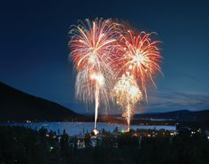 Fireworks over Grand Lake . . . beautiful!