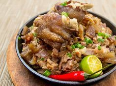Krispy Pata Sisig - Crispy pork knuckles can be used in your favorite bar chow.