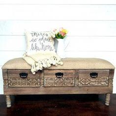 The Elegant Barn Storage Bench; Antique FarmHouse; $230