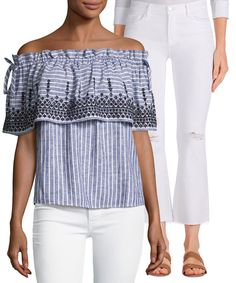 7385bad25d8bfa We re seeing stripes...and we love it! Chambray Top