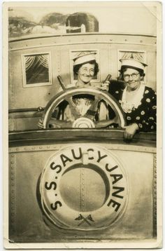 Saucy Jane - Long before the advent of Photoshop and democratization of cameras, you had to go to the photographer to take photographs with family and friends, and the use fake backdrops and sceneries was widespread! Here is a nice selection of fake sceneries used in old photographs…