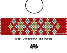 peyote ring pattern,PDF-Download, #289R, beading pattern, beading tutorials, ring pattern
