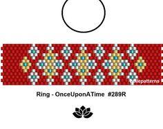 peyote ring pattern,PDF-Download, #289R, beading pattern, beading tutorials, ring pattern