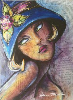 """Reproduction d'art numérotée signée portrait art déco rétro """"Sweat"""" : Affiches, illustrations, posters par la-perruche-de-rio"""