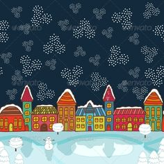 Christmas House Background  #GraphicRiver         Christmas house background vector illustration.
