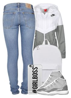 """""""02.24.16"""" by yeauxbriana on Polyvore featuring NIKE, Herschel Supply Co., Nudie Jeans Co., Casetify, women's clothing, women, female, woman, misses and juniors"""