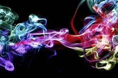 Psychedelic multicolored smoke.