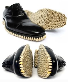 Animalistic take on the classic Oxford shoe with this macabre and sartorial Apex Predator.