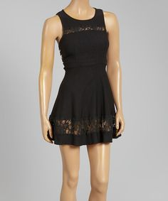 Look at this Love Point Black Lace Fit