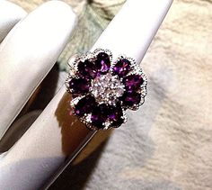 Vintage Genuine Pink Tourmaline 925 Sterling Silver Size 8.5 Ring