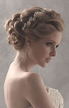 pretty wedding hair style