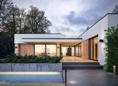 Agos - zdjęcie 3 Beautiful House Plans, Dream House Plans, Beautiful Homes, Minimalist House Design, Minimalist Home, Spanish Design, Small Modern Home, Dream House Exterior, Good House