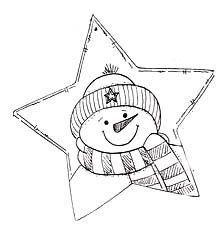 star shape card w/snowman image - star template Christmas Templates, Christmas Printables, Christmas Colors, Christmas Art, Christmas Ideas, Snowman Images, Christmas Drawing, Christmas Coloring Pages, Theme Noel