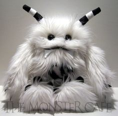 Baby Yeti - Black and White - TheMonsterCafe - Etsy