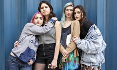 'Sometimes when we had men in the band, the feel wasn't quite locking in. It's maybe in the nature of men pushing, and women receiving' … from left: Jenny Lee Lindberg, Stella Mozgawa, Emily Kokal and Theresa Wayman of Warpaint. Photograph: Frantzesco Kangaris for the Guardian