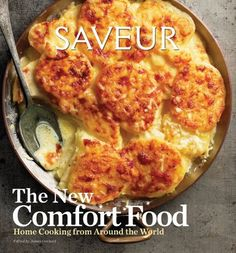 Great photography, recipe origins and educational side bars on less common ingredients like Rapini, stories from recipe contributors and a sampling of satisfying family food from the world over.  Saveur: The New Comfort Food - Home Cooking from Around the World by James Oseland.  $12.99 at Copperfields.