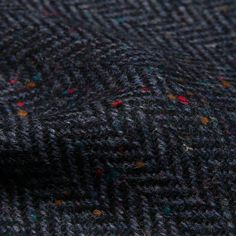 Charcoal Wool Donegal Tweed - Le Souk