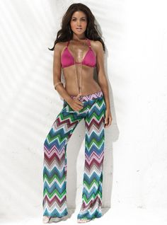 L Space Pink Top + Zagged Bottoms