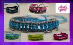 DIY. Comment faire des bracelets avec du fil en cotton. How to knit yarn…