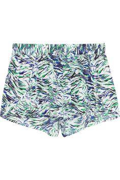 Stella McCartneySolange Leaning printed washed stretch-silk shorts
