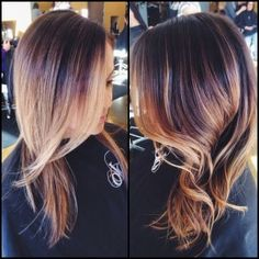 ombre, straight, loose waves, brunette, blonde, redken, Hair by Arielle, Blo Raleigh, NC, inspiration, #justblo