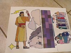 tutorial on making your own flannel board Bible story characters