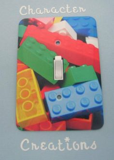 LEGO Design Standard Metal Light switch Cover (Switch plate Switchplate) by Character Creations. $12.00