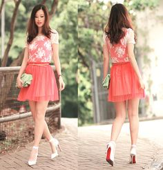Too early for water melon sorbet? (by Mayo Wo) http://lookbook.nu/look/3302657-too-early-for-water-melon-sorbet