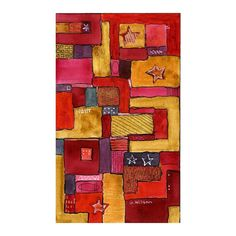 abstract painting contemporary modern art mixed media watercolor illustration drawing.