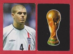 Unknown manufacturer, issued for the 2002 World Cup. Depicting the England and Liverpool footballer Steven Gerrard.