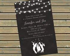 This chalkboard-style front-and-back printed invitation is perfect for a New Orleans or New Orleans-inspired party, shower, or rehearsal dinner! Coordinating reply cards and thank you notes are also available, message me for more info!  ***This listing is for 30, 40, or 50 printed invitations with envelopes. If you need a larger quantity, please message me for a custom listing. If youd like to purchase the digital file only, please message me for a custom listing.  *You can also get your…