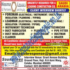 Connecting People: NESMA URGENTLY REQUIRED FOR LEADING CONSTRUCTION C...