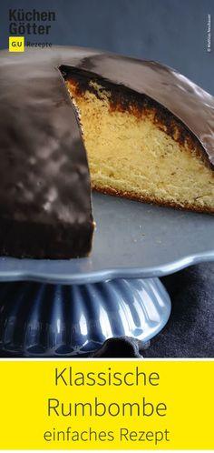 Tolles Rezept f r klassische Rumbombe Easy Cake Recipes, Baking Recipes, Great Recipes, Dessert Recipes, Brunch Recipes, Dessert Simple, Food Cakes, Best Chocolate Cake, Chocolate Recipes
