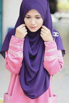 Purple hijab @muslimahclothing