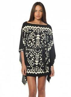 Black & White Aztec Print Tunic #tribalprint #dress